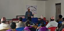 समाजिक परिक्षण कार्यक्रममा प्रश्नहरुको उत्तर दिदै नगर प्रमूख हंस राज भट्ट